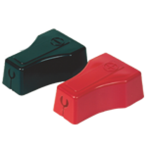 Straight Clamp Terminal Protectors - Snap Fit 6 & 4ga-Red