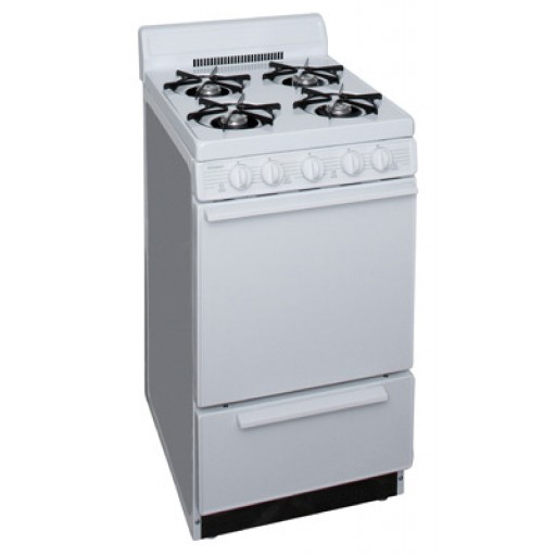 "Premier 20"" Gas Range-White on White"