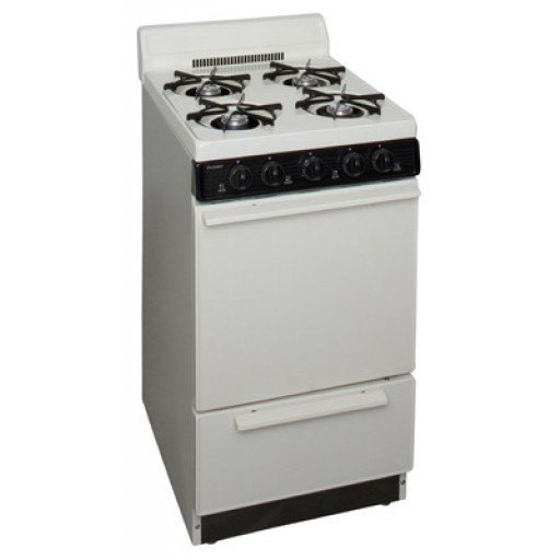 "Premier 20"" Gas Range-Biscuit on Black"