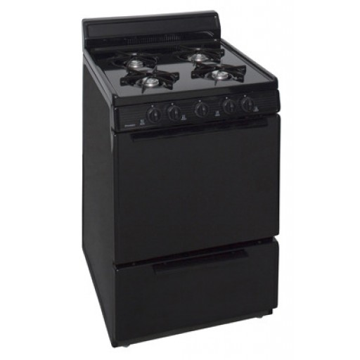 "Premier 24"" Gas Range-Black on Black"