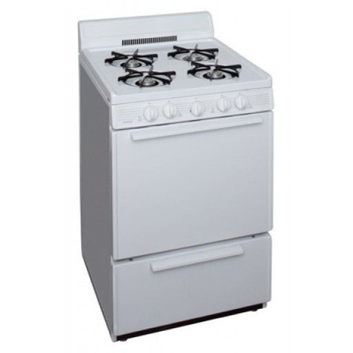 "Premier 24"" Gas Range-White on White"