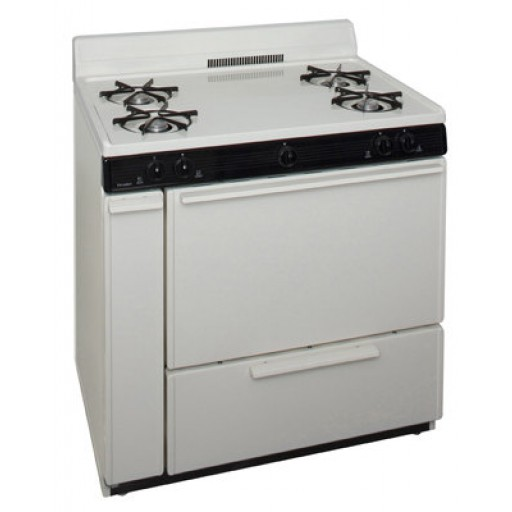 "Premier 36"" Gas Range-Biscuit on Black"