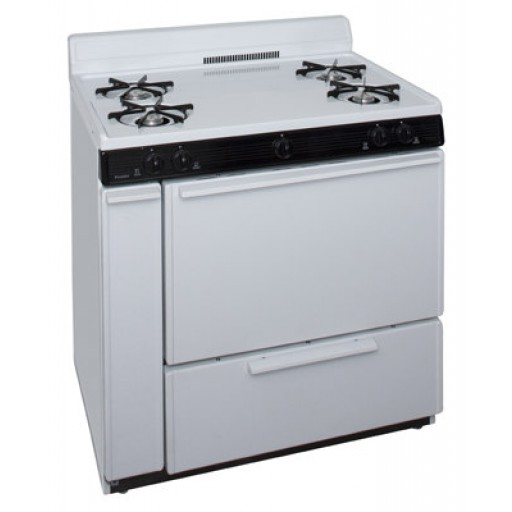 "Premier 36"" Gas Range-White on White"