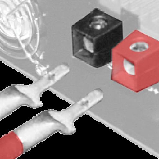 "2 GA MagnaLug with .165"" Tab Inverter Connector"