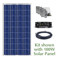 RV Solar Panel Kit: 100W Panel Shown