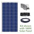 RV Solar Panel Kit: 100W Panel Shown