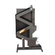 Wiseway Non-Electric Pellet Stove: front view